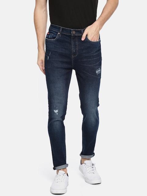 Lee Cooper Men Blue Skinny Fit Mid-Rise Mildly Distressed Stretchable Jeans