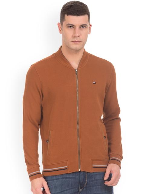 Arrow Sport Men Brown Bomber Jacket