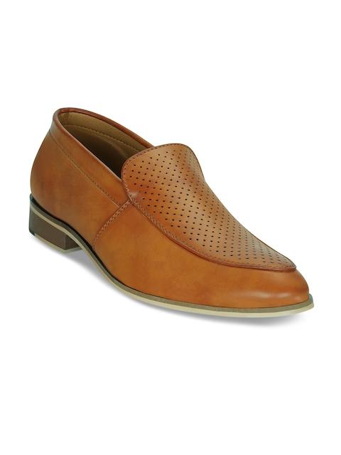 Kielz Men Tan Brown Formal Slip-On Shoes