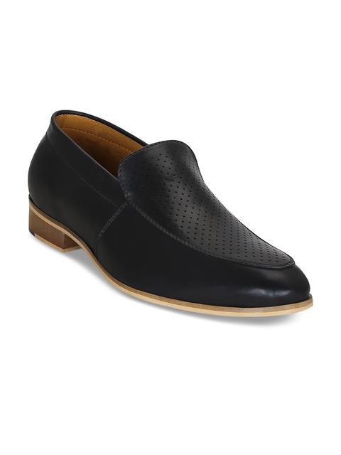 Kielz Men Black Formal Slip-On Shoes