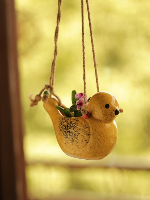 ExclusiveLane Yellow Ceramic Planter Pot
