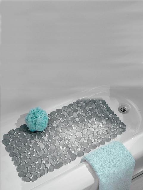 INTERDESIGN Grey Pebble-Deisgn Bath Mat