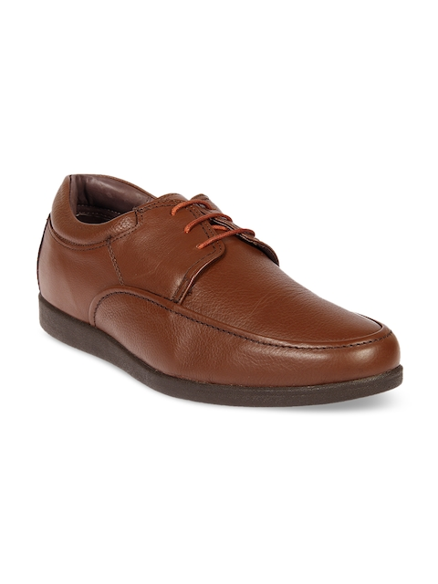 Franco Leone Men Tan Formal Leather Derbys