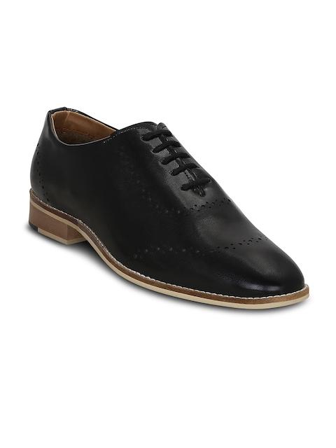 Get Glamr Men Black Formal Oxford Shoes