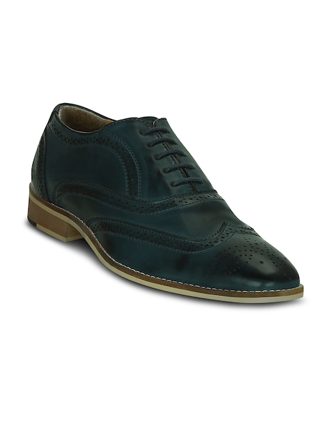 Get Glamr Men Teal Blue Formal Brogues