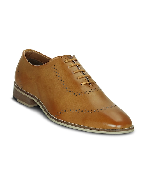 Get Glamr Men Tan Formal Oxford Shoes