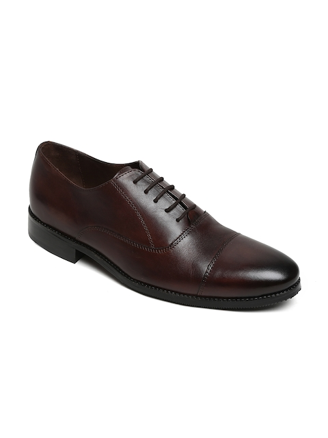 BRUNE Men Brown Leather Formal Oxfords