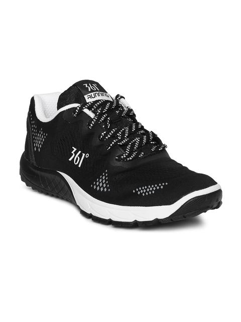 361 Degree Men Black Performance Running Shoes