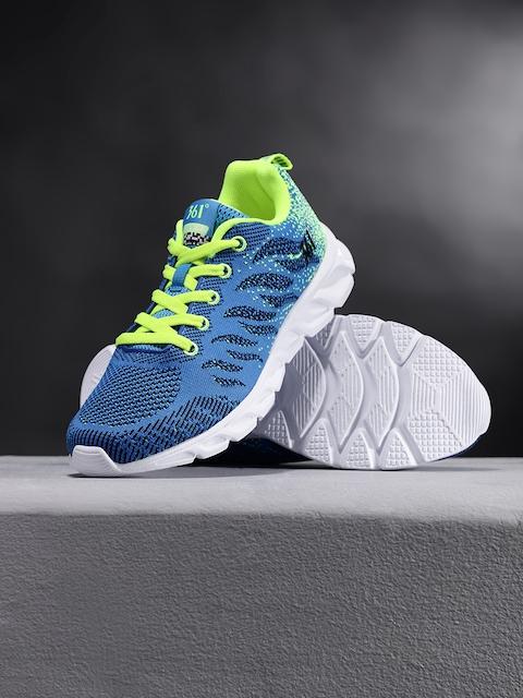 361 Degree Men Blue Performance Running Shoes