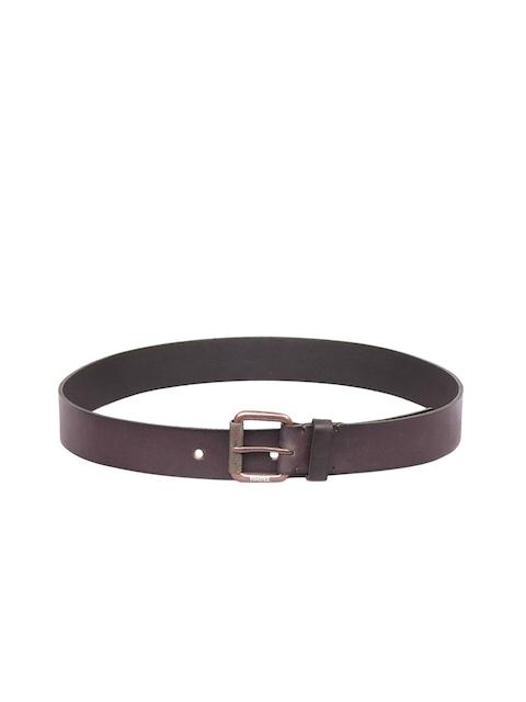 Justanned Men Brown Solid Belt