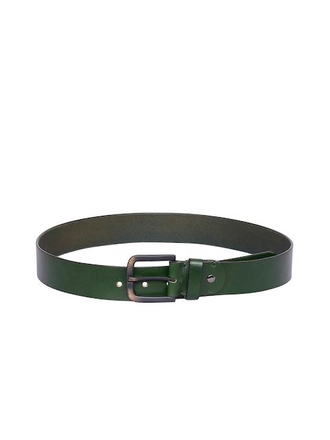 Justanned Men Green Solid Belt