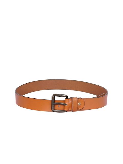 Justanned Men Tan Solid Belt