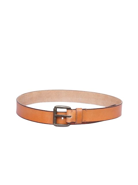 Justanned Men Tan Brown Solid Belt