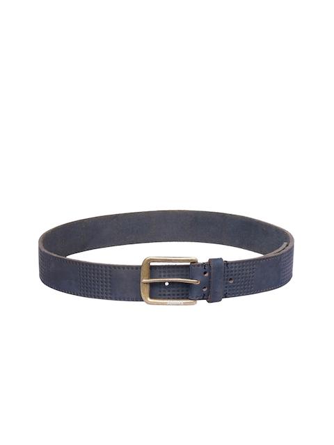 Justanned Men Blue Textured Belt