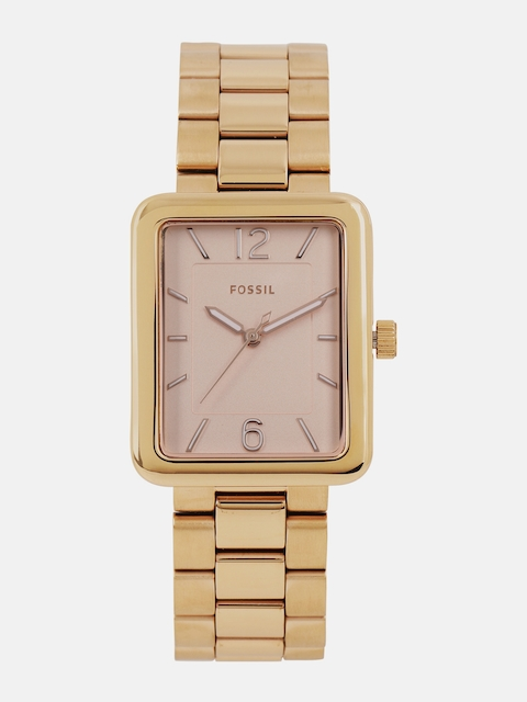 Fossil Women Rose Gold-Toned Analogue Watch ES4156I_OR