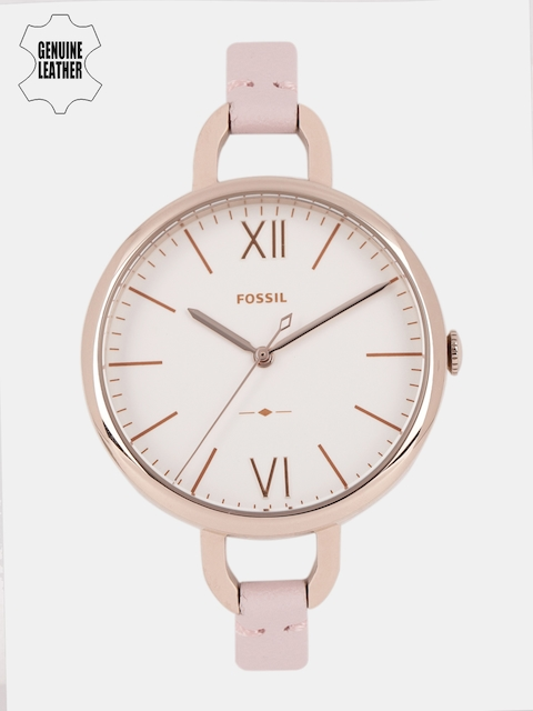 Fossil Women White Analogue Watch ES4356I_OR
