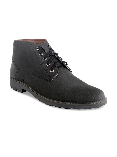 Knotty Derby Men Black Flat Boots