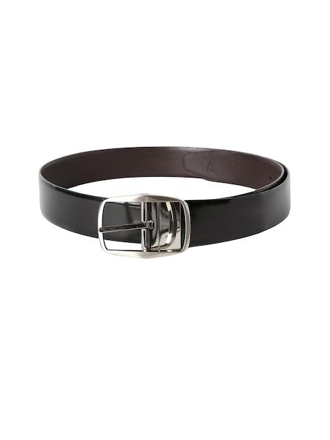 Van Heusen Men Black Solid Leather Belt