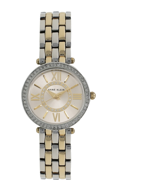ANNE KLEIN Women Silver-Toned & Gold-Toned Analogue Watch