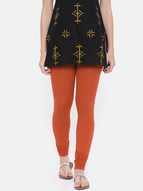Go Colors Women Orange Churidar