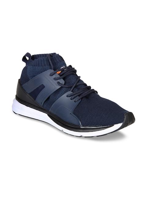 Duke Men Navy Blue Walking Shoes