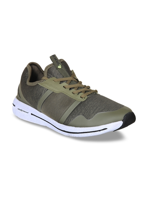 Duke Men Olive Green Walking Shoes