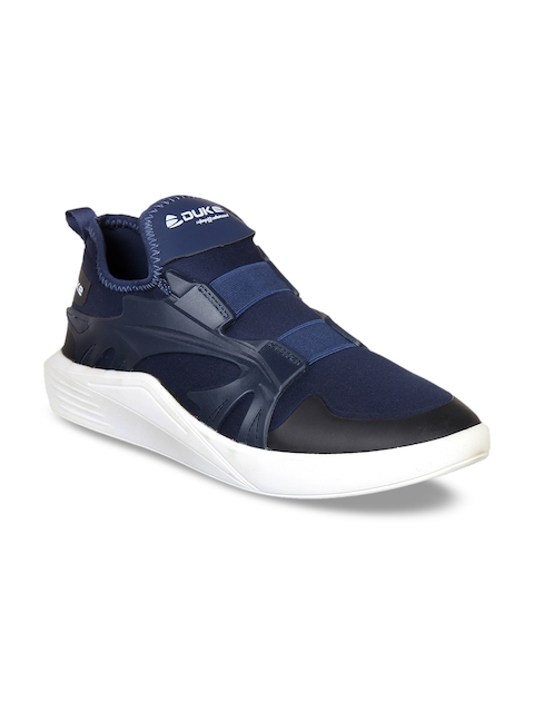Duke Men Navy Blue Walking Shoes
