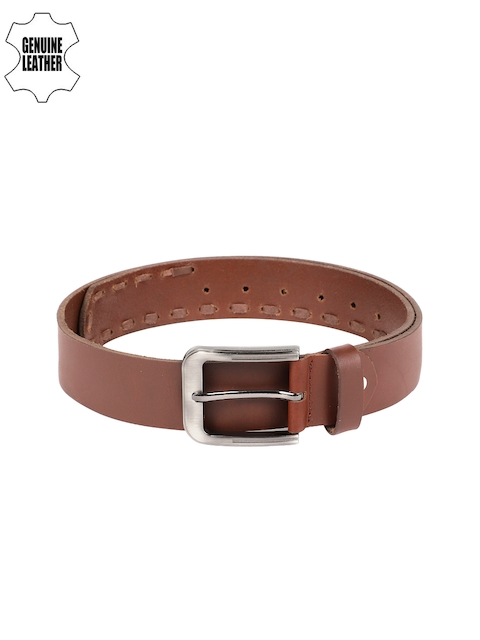 SPYKAR Men Brown Solid Leather Belt
