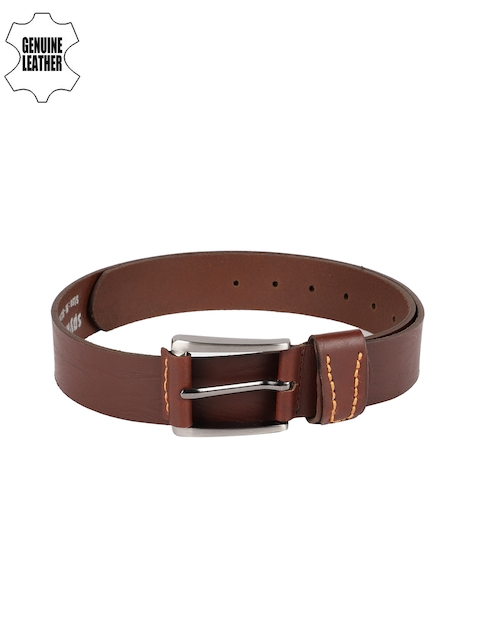 SPYKAR Men Brown Solid Genuine Leather Belt