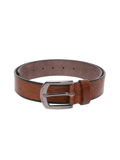 SPYKAR Men Brown Genuine Leather Textured Belt