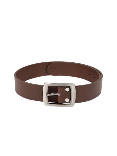 SPYKAR Men Brown Solid Leather Belt