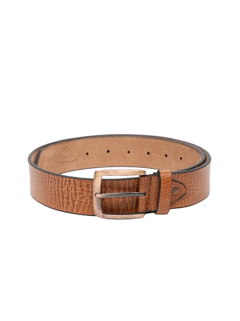 SPYKAR Men Brown Genuine Leather Textured Belt