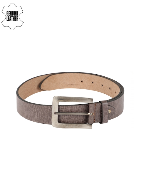 SPYKAR Men Brown Textured Genuine Leather Belt
