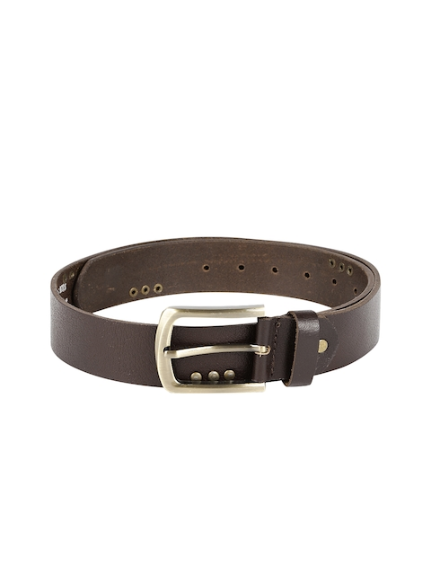 SPYKAR Men Brown Genuine Leather Embellished Belt