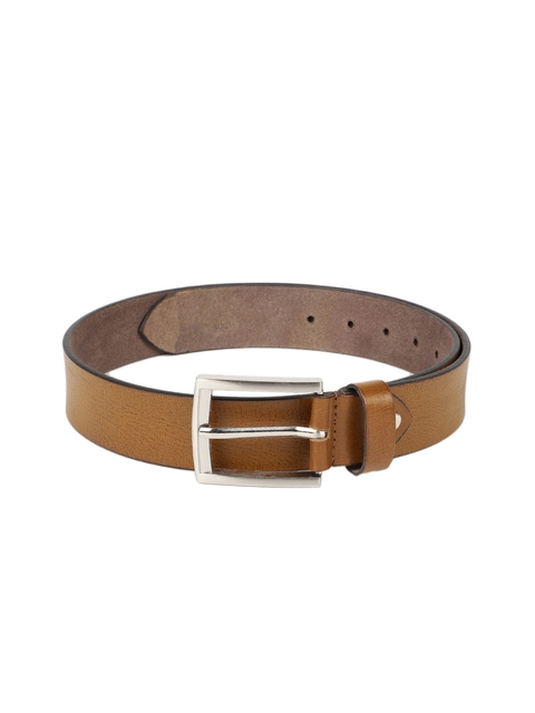 SPYKAR Men Tan Brown Textured Leather Belt