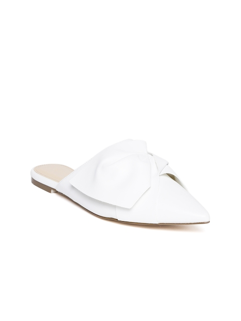 FOREVER 21 Women White Solid Mules