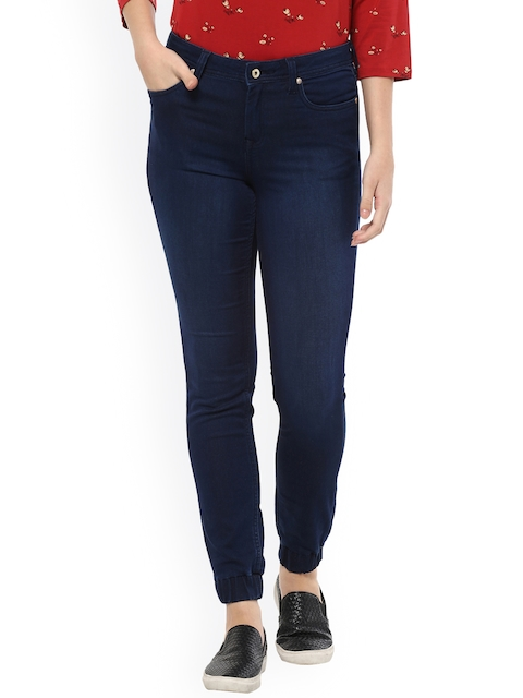 Allen Solly Woman Navy Blue Regular Fit Mid-Rise Clean Look Jeans