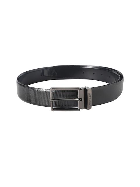 Allen Solly Black Reversible Leather Belt