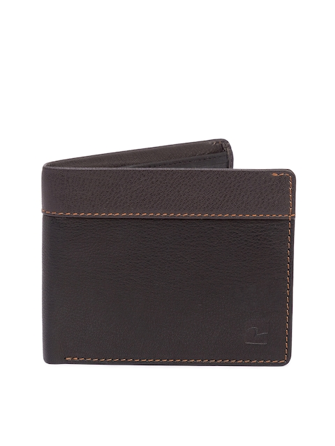 SPYKAR Men Brown Solid Two Fold Leather Wallet