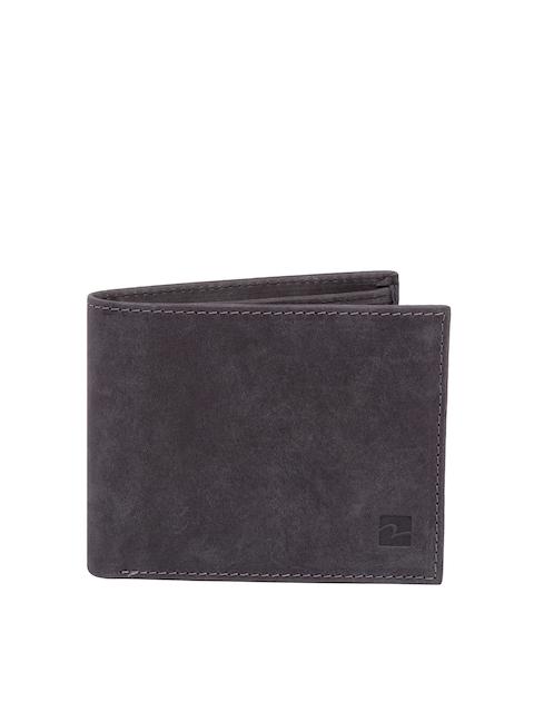 SPYKAR Men Black Solid Two Fold Leather Wallet