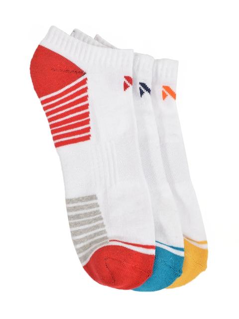 MARC Unisex Pack of 3 White Shoe-Liner Socks