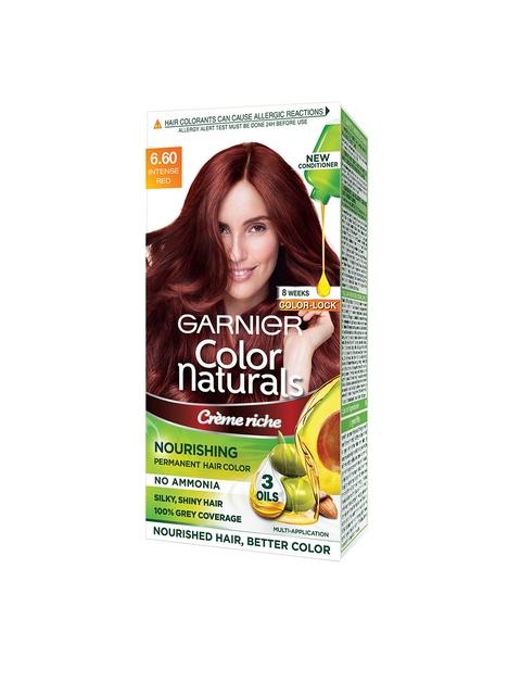 Garnier Women Color Naturals 6.60 Intense Red Creme Riche Hair Color (70 ml + 60 g)