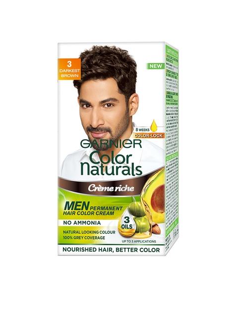 Garnier Men Color Naturals Darkest Brown Shade 3 Hair Colour
