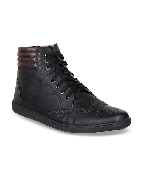 Knotty Derby Men Black Flat Boots