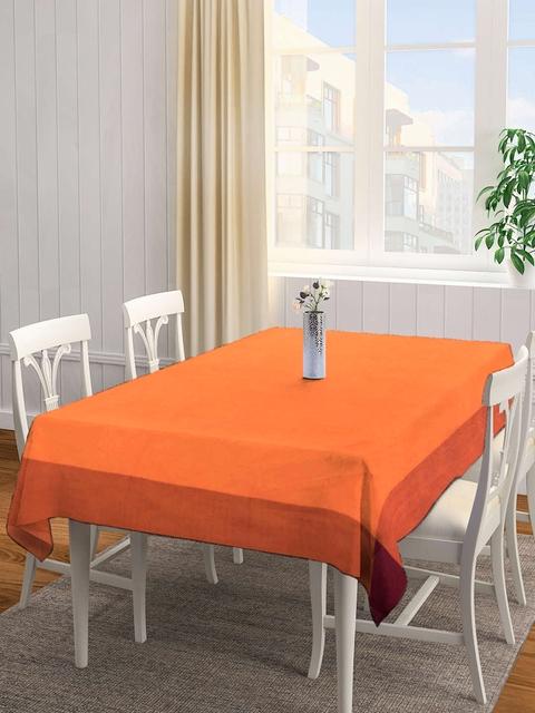 NEUDIS Orange Solid Square Table Cover