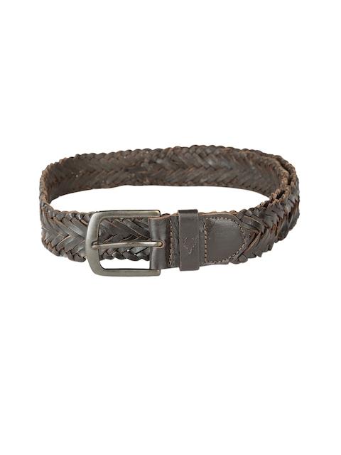 Allen Solly Men Brown Braided Belt