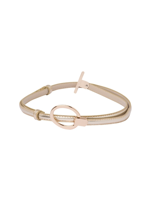 Globus Women Gold-Toned & Silver-Toned Solid Belt