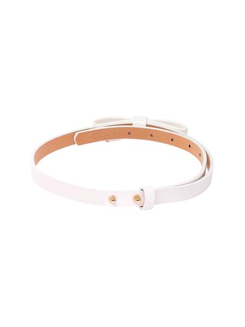 Globus Women White & Gold-Toned Solid Belt
