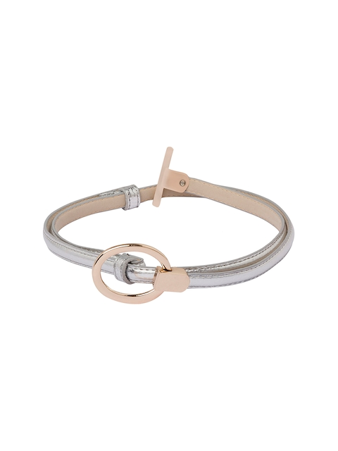 Globus Women Silver-Toned & Gold-Toned Solid Belt