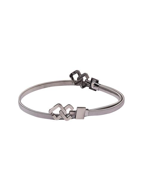 Globus Women Charcoal Grey Textured Belt